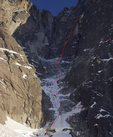 Couloir NE, Aig Dru, Chamonix, French Alps