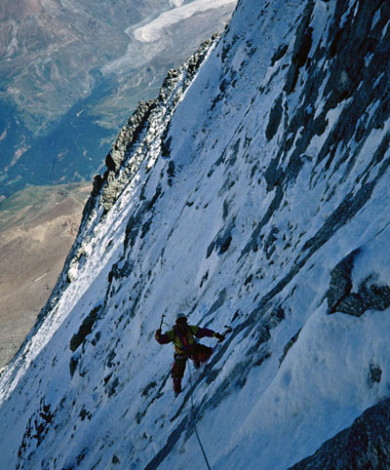 Smith Route V-5, Nord Face, Materhorn, Zermatt, Swiss Alps