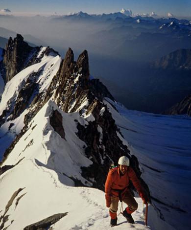Kuffner Ridge, Mont Maudit, Courmayeur, Italian Alps