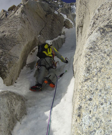 Goulotte Ravanel Frendo III-4, Nord Face Aig. Verte, Chamonix, French Alps
