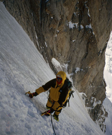 Linceul V-4 Nord Face Grandes Jorasses, Chamonix, French Alps