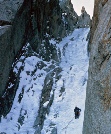 Super Couloir IV-5, Mnt Blanc De Tacul, Chamonix, French Alps
