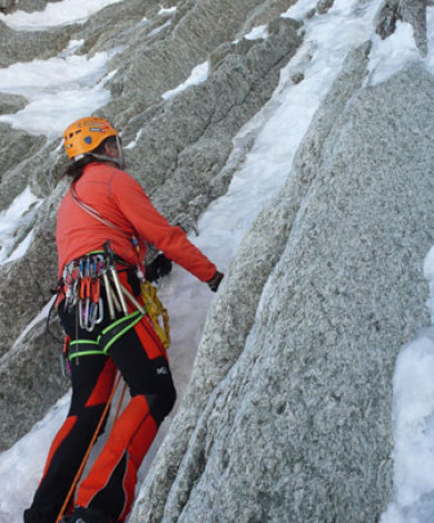 Goulotte Lafaille III-4, Mnt Blanc Tacul, Mont Blanc, French Alps