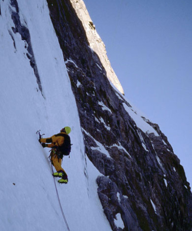 Linceul V-4, Nord Face, Grandes Jorasses, Chamonix, French Alps